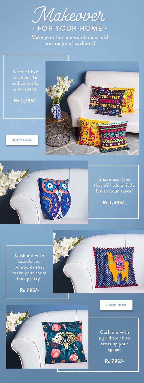 Cushions By Chumbak!