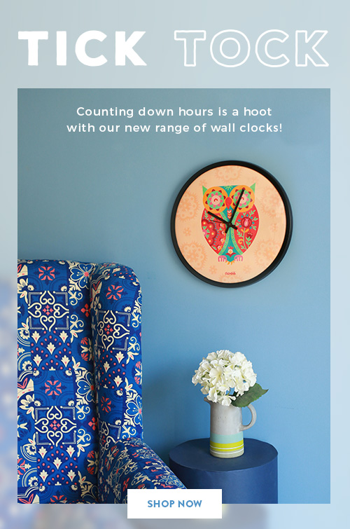 Wall Clocks on Chumbak!